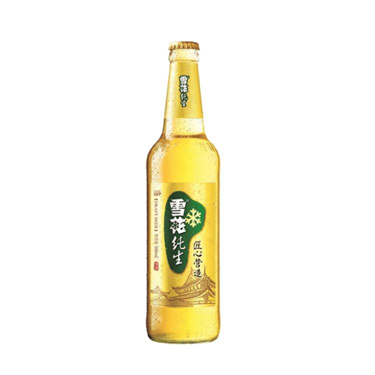 雪花啤酒 纯生 匠心营造 500mlx12瓶 整箱