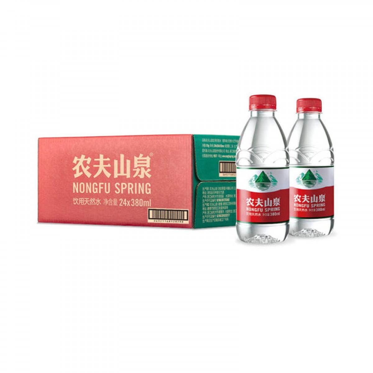 农夫山泉 饮用天然水 瓶装 380mlX24瓶 整箱