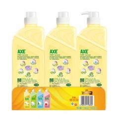 斧头牌(AXE)柠檬护肤洗洁精套装1.18kgX3(1泵+2补)(新老包装随机发货)