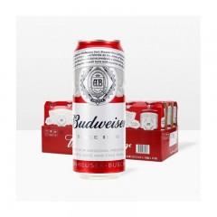 百威(BUDWEISER)百威啤酒 清啤 黄啤 500mlX12听 整箱装